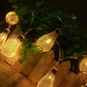 Новогодняя гирлянда с огоньками грушевидной формы