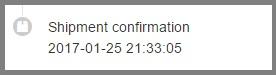 Shipment confirmation — перевод на русский язык